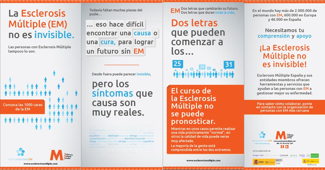 """mañana Día Mundial de la Esclerosis Múltiple. 30 de mayo de 2012 """"La Esclerosis Múltiple no es invisible. Las personas con Esclerosis Múltiple tampoco lo son"""""""