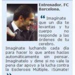 EL FC BARCELONA CON EL MOVIMIENTO MUNDIAL DE LA ESCLEROSIS MÚLTIPLE